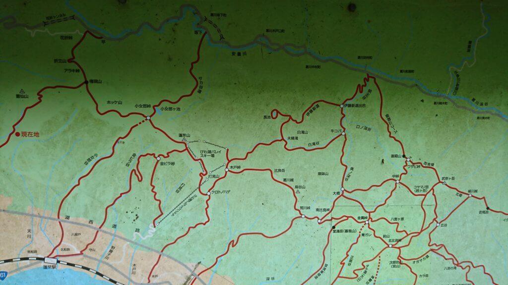 比良山系地図