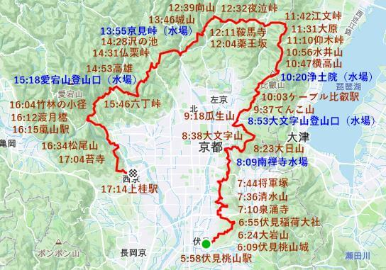 京都一周トレイル一日完走